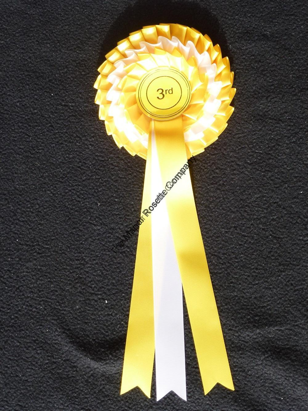 3 Tier Kent Showjumper Rosette The Manor Rosette Company