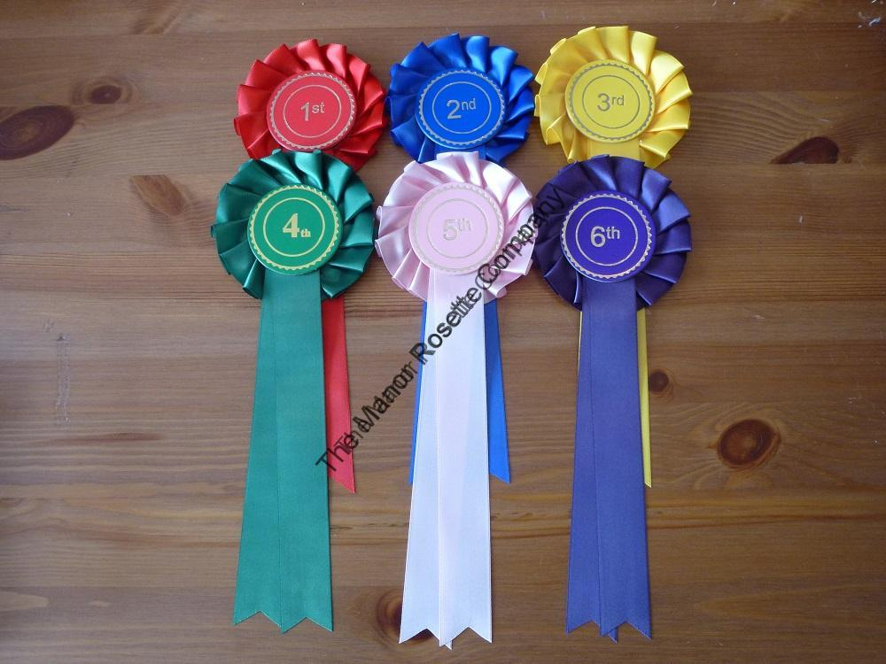 1 Tier Set of 1st – 6th Personalised Rosettes