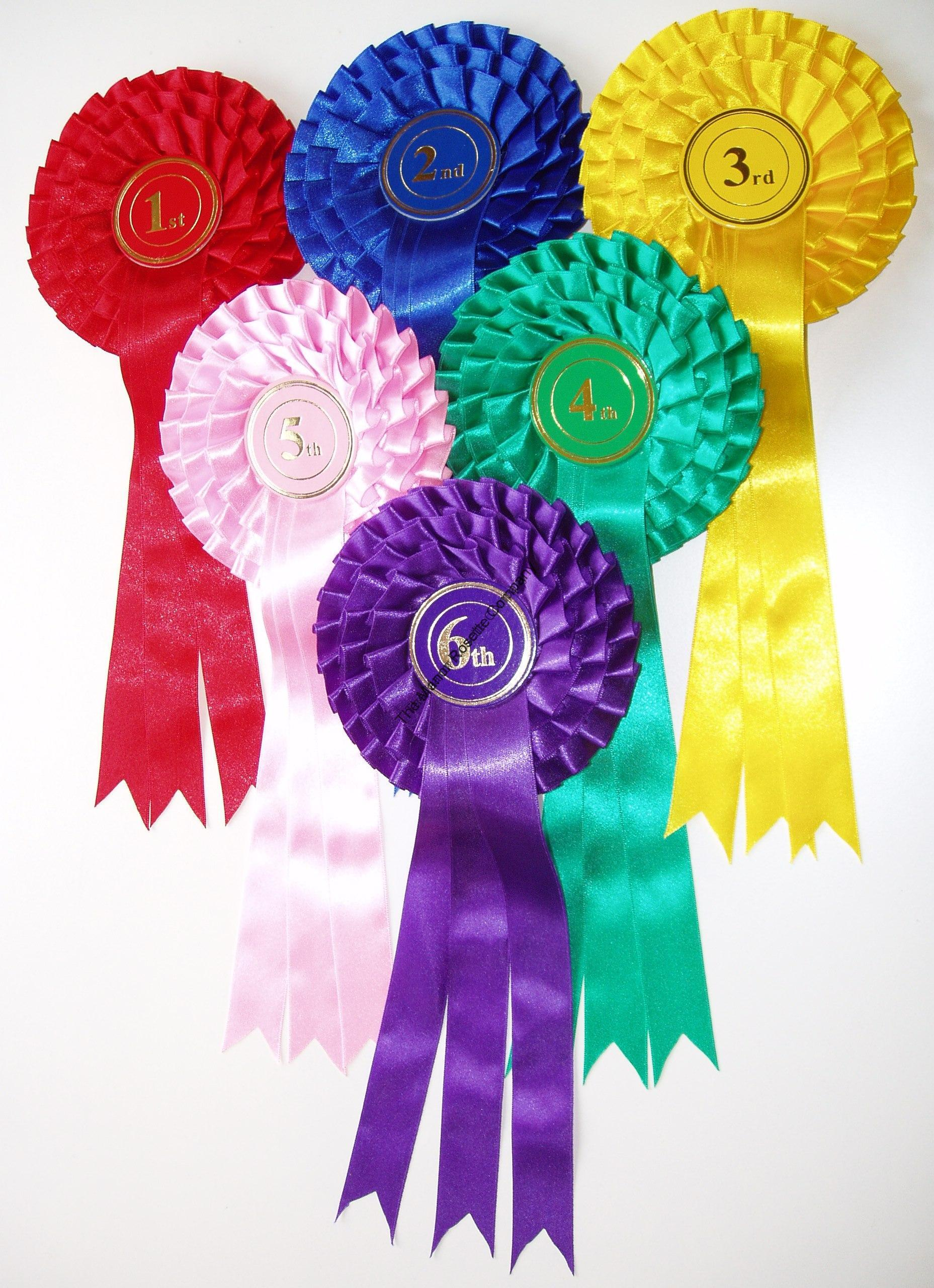 3 tier stock rosette 1st to 6th set